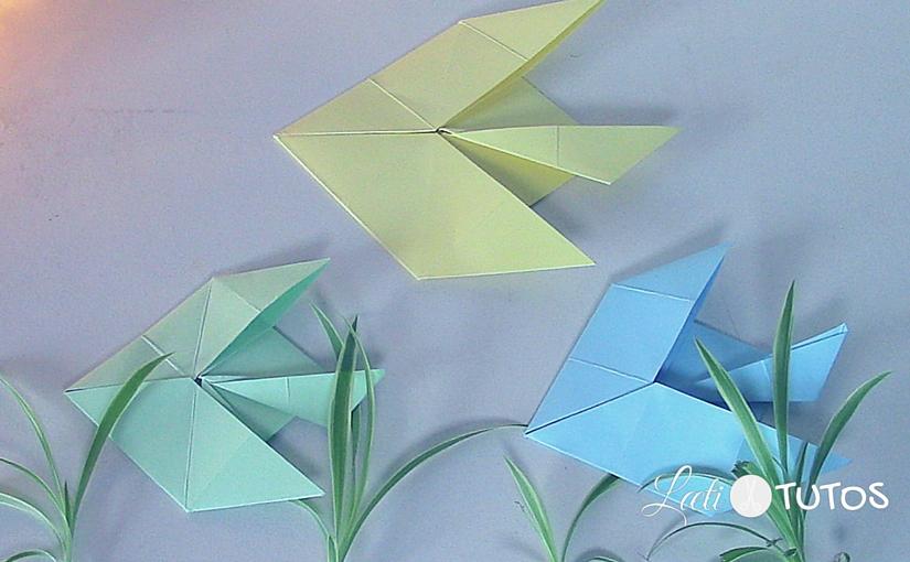 Un poisson en origami facile à plier pour le 1er avril ? C'est par ici !