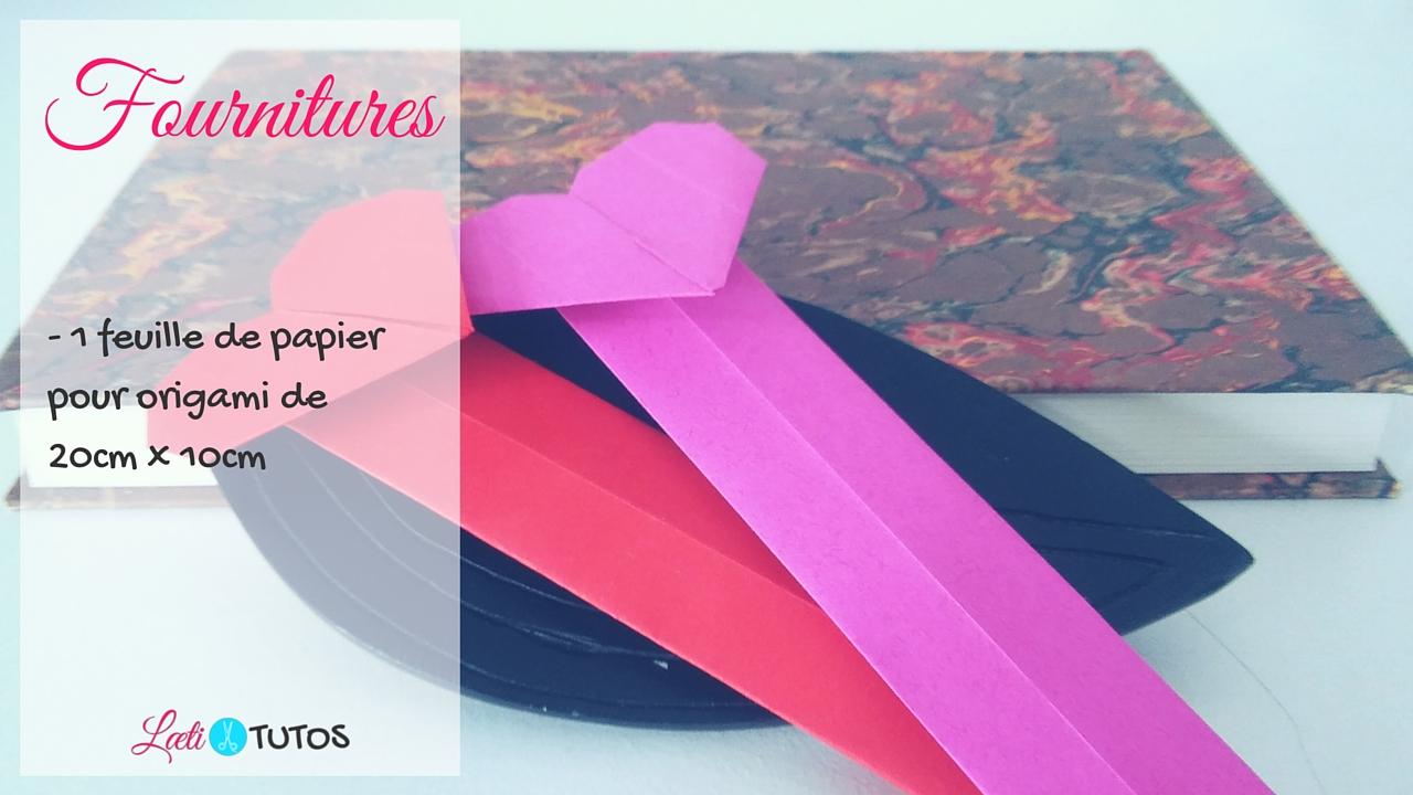 Origami marque-page en forme de coeur (Tutoriel)