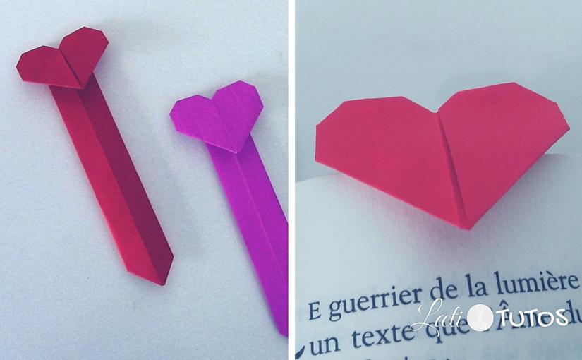 Vous aimez lire ? Un origami marque-page en forme de coeur, ça vous tente ?