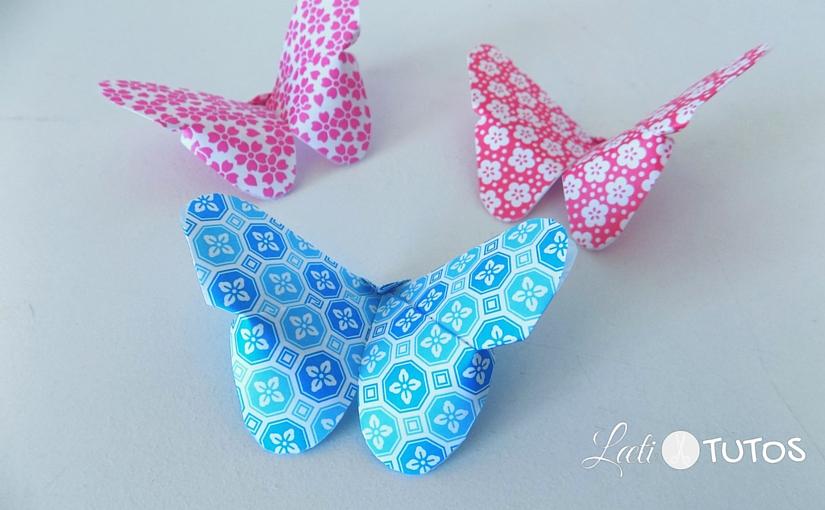 Allez, petit atelier printanier : créons un papillon en origami !
