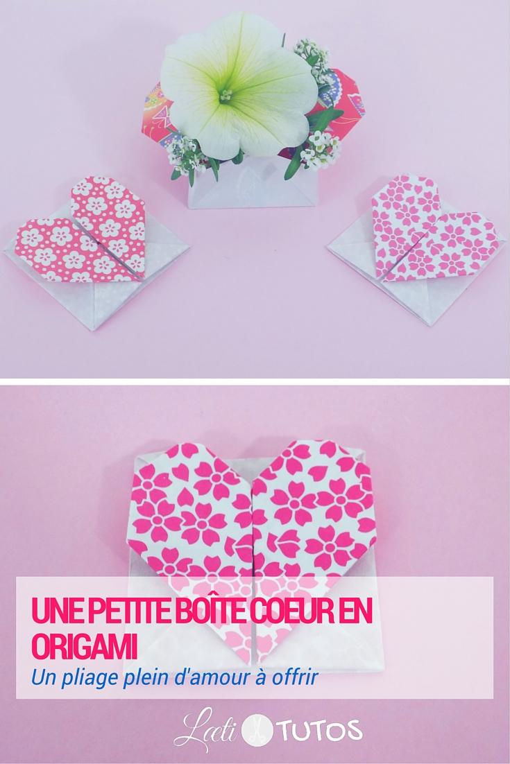 Tutoriel : Créons une petite boite en forme de cœur ! - sur www.LaetiTutos.fr
