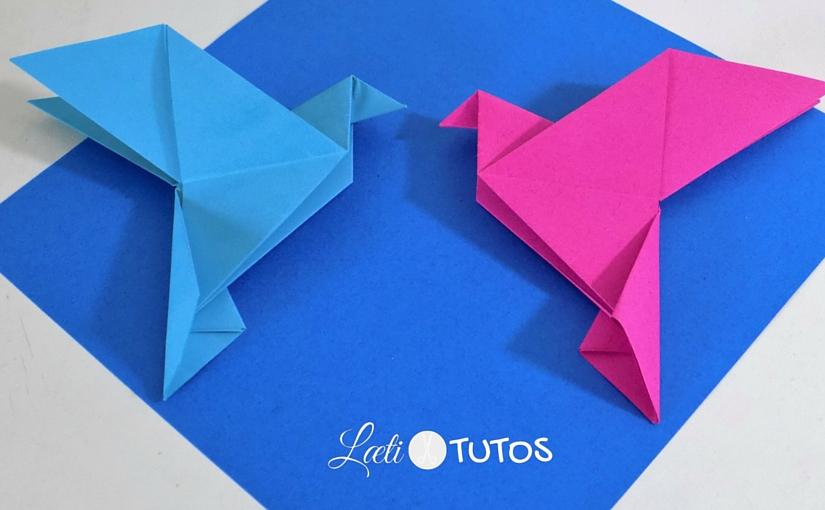 Comment faire une colombe en origami (Tutoriel Facile)