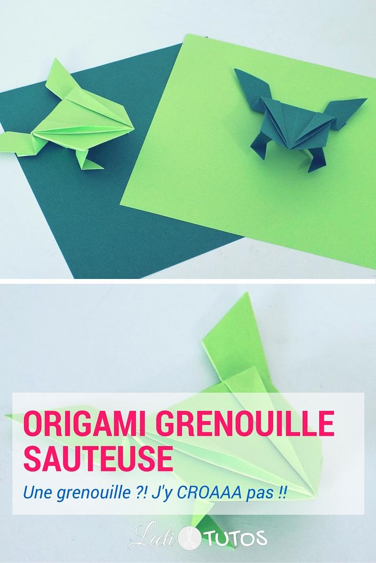 A vos marques, prêts… Et c'est parti pour une course de grenouilles sauteuses en origami ! - sur www.LaetiTutos.fr