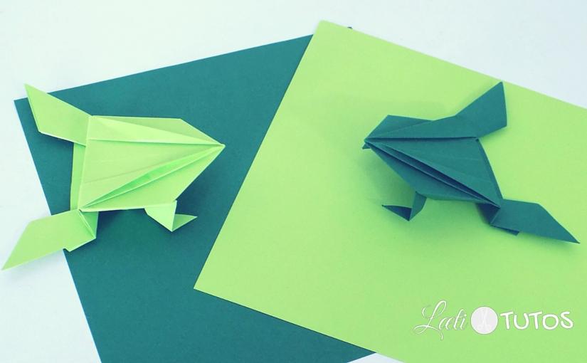 A vos marques, prêts… Et c'est parti pour une course de grenouilles sauteuses en origami !